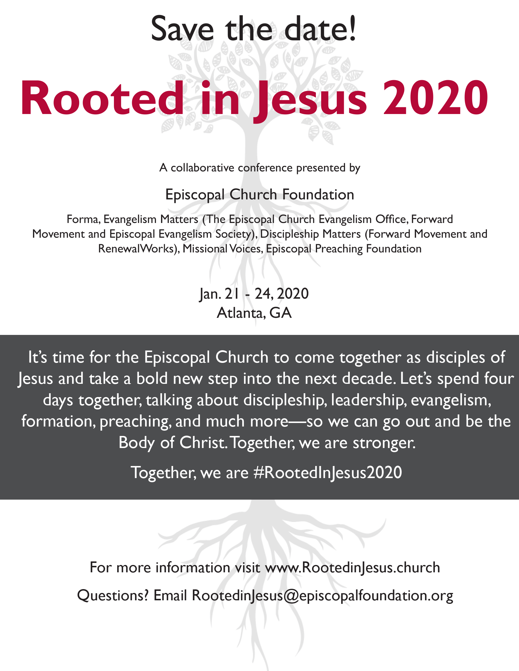 Rooted in Jesus 2020